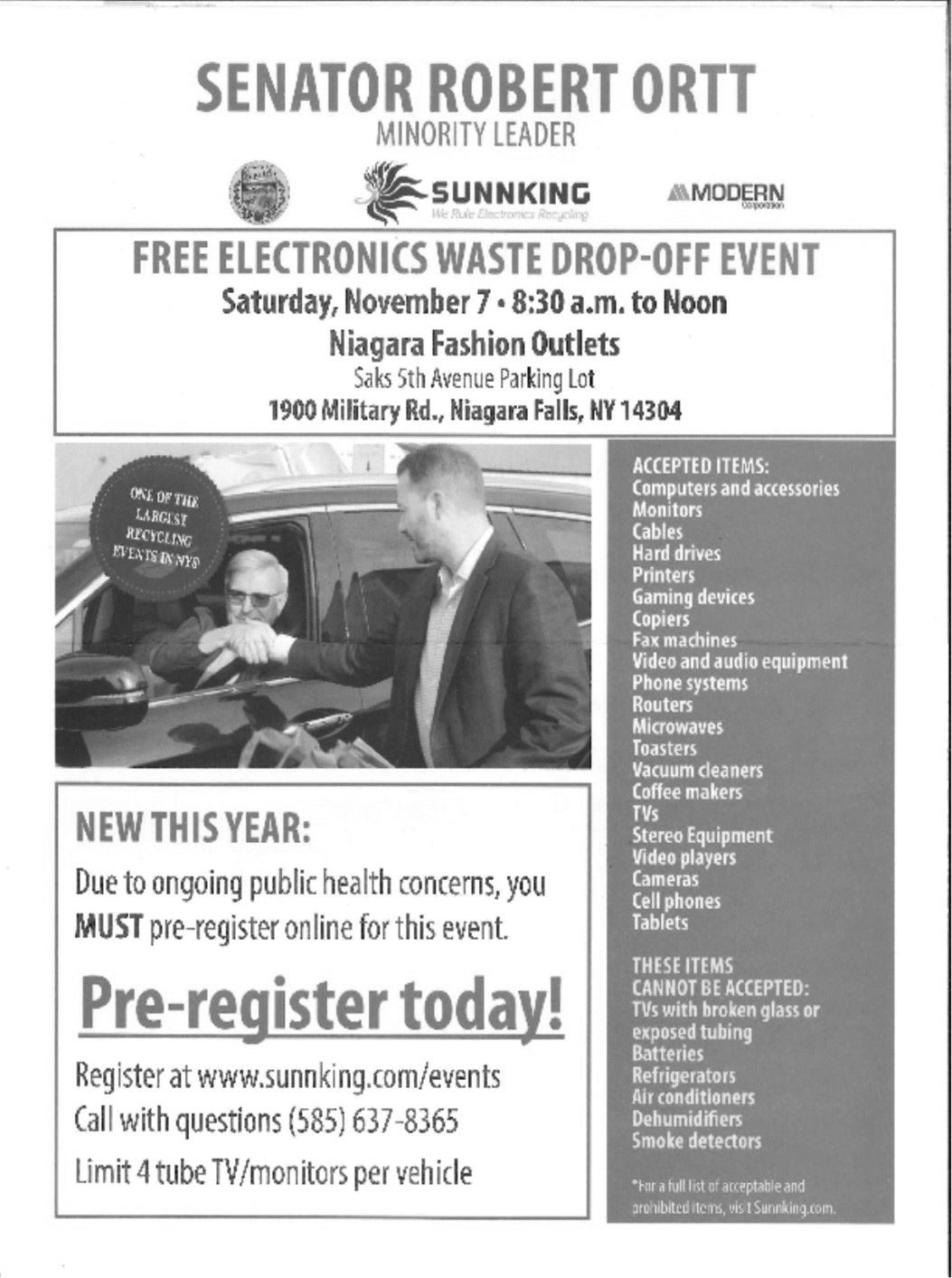 Electronic Waste Drop Off Event November 7th